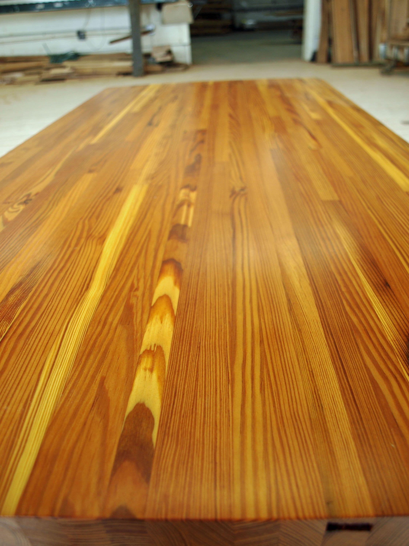 Remarkable Rustic Reclaimed Heart Pine Table Counter Top Butcher Block Kitchen Island Desk Home Bar Coffee End Night Restaurant Interior Design Ideas Lukepblogthenellocom