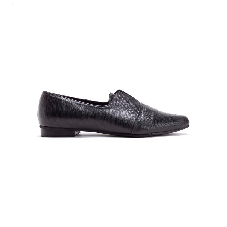 Black Leather Loafers Black leather Flats Nora  Free Shipping