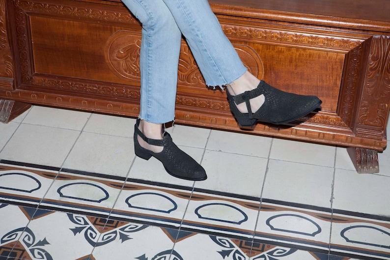 1eb20953da2 SALE Last Sizes US 11.5   12 Women s Leather Cut Out