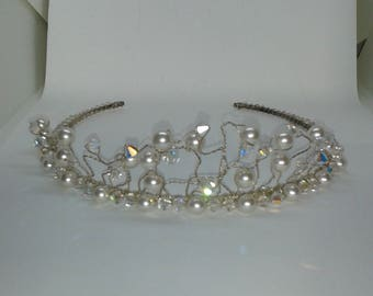 Pearl and Crystal Tiara