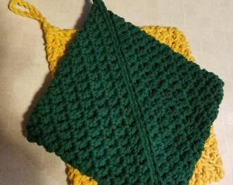 Crocheted Potholder Set