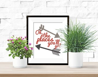 graphic about Oh the Places You'll Go Arrows Printable called Oh The Spots Youll Transfer with Arrows Printable Dr. Suess Etsy