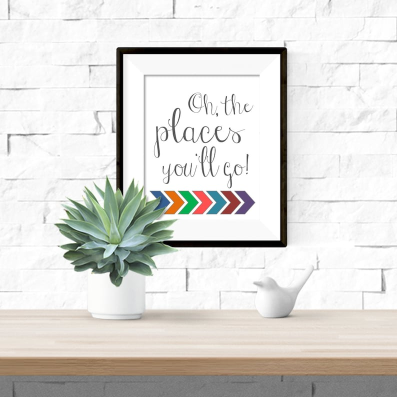 graphic regarding Oh the Places You'll Go Arrows Printable titled Oh The Areas Youll Shift with Arrows Printable Dr. Suess Nursery Art - 8x10 Electronic Obtain