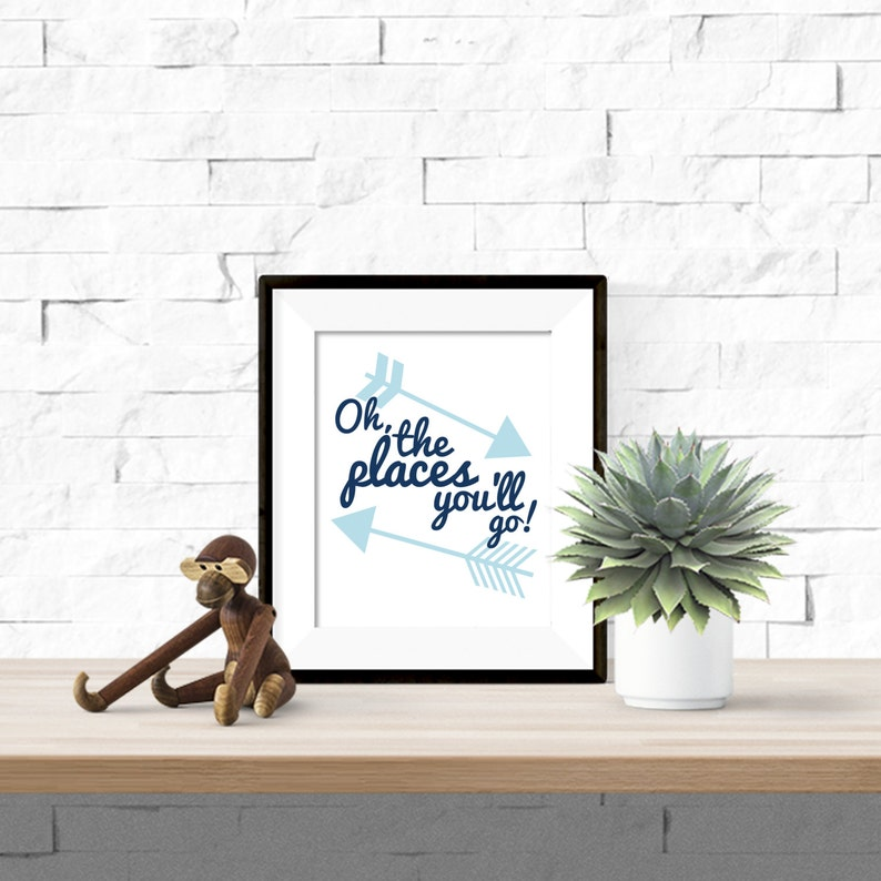 photograph relating to Oh the Places You'll Go Arrows Printable titled Oh the Destinations Youll Transfer with Arrows Printable Nursery Small children Space Art - 8x10 Electronic Obtain
