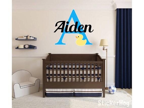 Baby Ente Mädchen Jungen Baby Name Monogramm Kinderzimmer Zimmer Vinyl Wand  Aufkleber Grafiken 22\