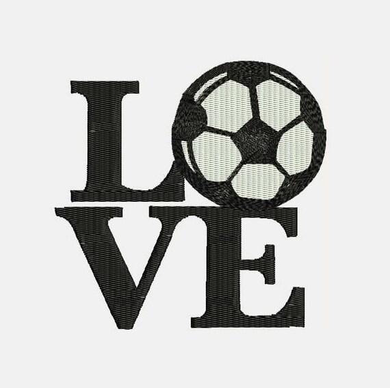 Amor futbol máquina bordado diseños deportes patrones 340 B | Etsy