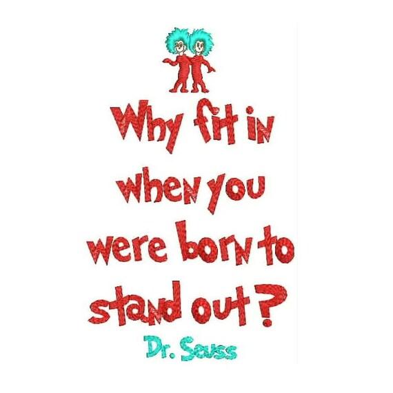 Waarom Fit In Wanneer Je Geboren Te Onderscheiden Dr Seuss Etsy