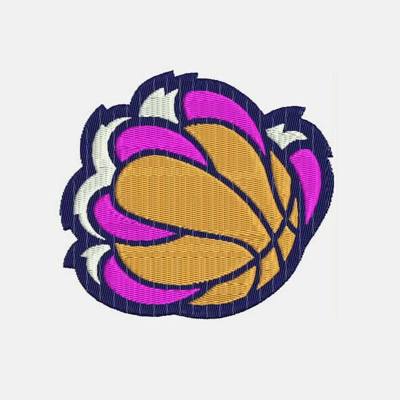 189586da892b2 Memphis Grizzlies Basketball NBA Team Logo Machine Embroidery Designs -  Instant Download Filled Stitches Design 572