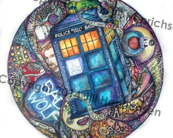 DR. WHO Tribute Color Print