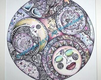 LOVE   Large 14x14 Color Print