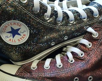 5095d0605da971 Glitter sparkle converse Chuck Taylors! Women sizes! Handpainted and  washable!