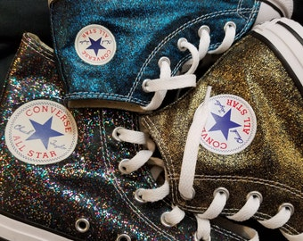 53302735613085 Glitter sparkle converse Chuck Taylors! Kid sizes! Handpainted and washable!