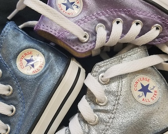 Converse All Star Hi LIGHT GOLD GLITTER SHINY METAL