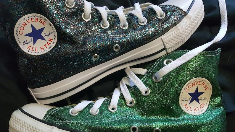 800c34051628 Glitter/sparkle converse Chuck Taylors Women sizes   Etsy