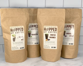 Hopped Up Coffee Collection Gift Box - Beer Coffee, Specialty Coffee, Beer Lover Gift, Coffee Lover Gift