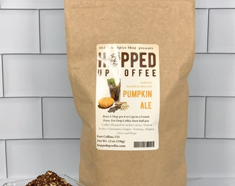 Hopped Up Coffee - Pumpkin Ale, Beer Lover Gift, Coffee Lover Gift, Christmas Gift