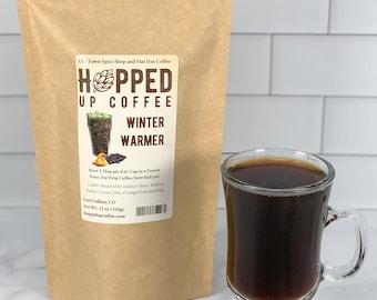 Hopped Up Coffee -Winter Warmer, Beer Coffee, Specialty Coffee, Beer Lover Gift, Coffee Lover Gift
