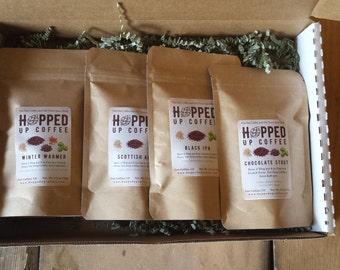 Hopped Up Coffee - Sample Pack, Beer Coffee, Specialty Coffee, Beer Lover Gift, Coffee Lover Gift