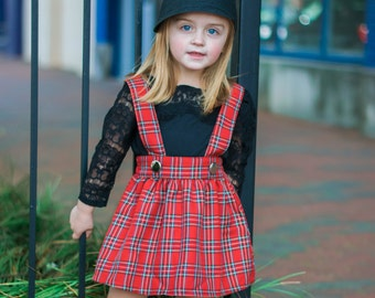 Dreaming Kids Red Plaid Rushed Jumper