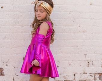 Dreaming Kids Pink Metallic Dress