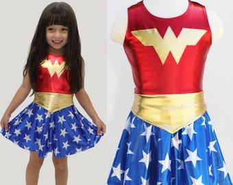 Girls Wonder Woman Costume Etsy