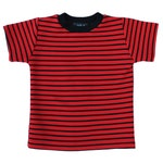 Calvin Red/orange & Black Stripe Tee costume halloween rings freddy the hobbes peanuts linus