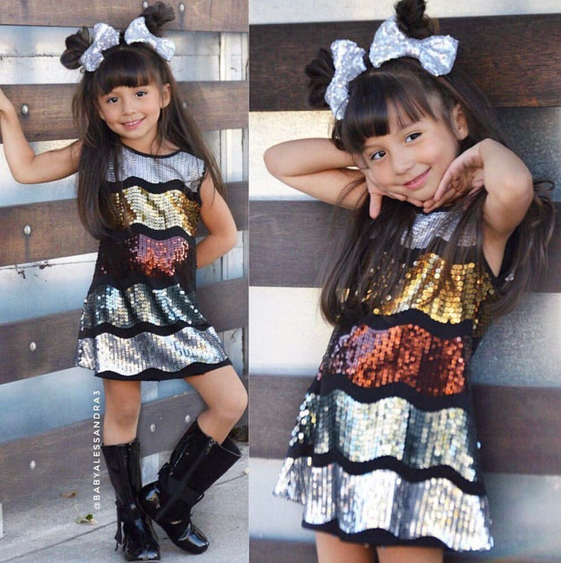 Dreaming Kids Black  Sequin Dress  Infant Toddler & Girls image 0