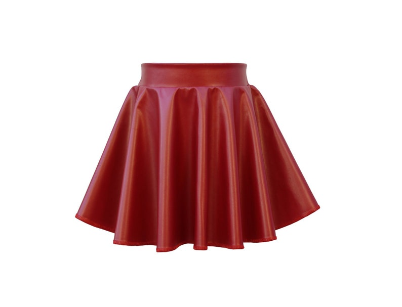 Dreaming Kids dk Red Faux Leather Skirt image 0