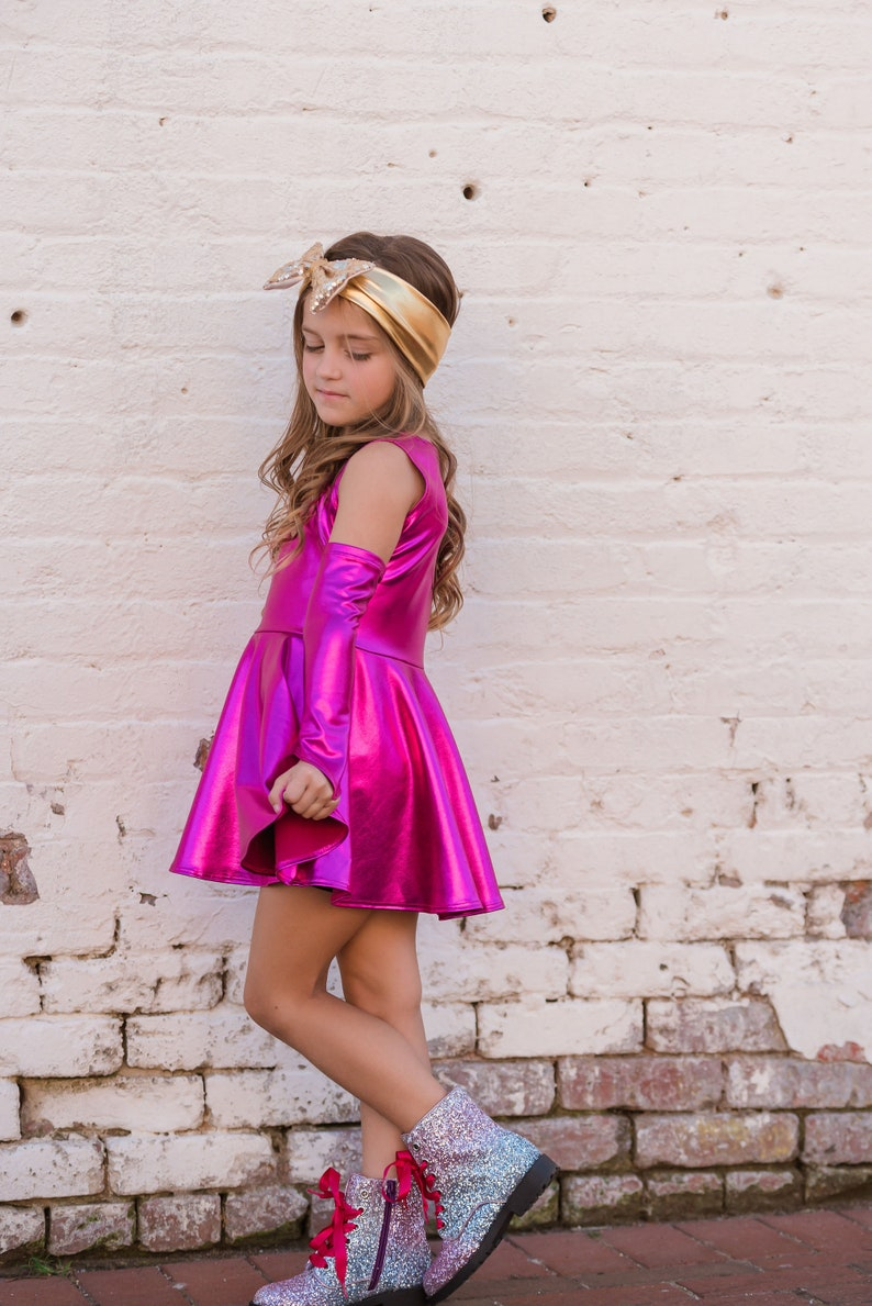 Dreaming Kids Pink Metallic Dress image 0