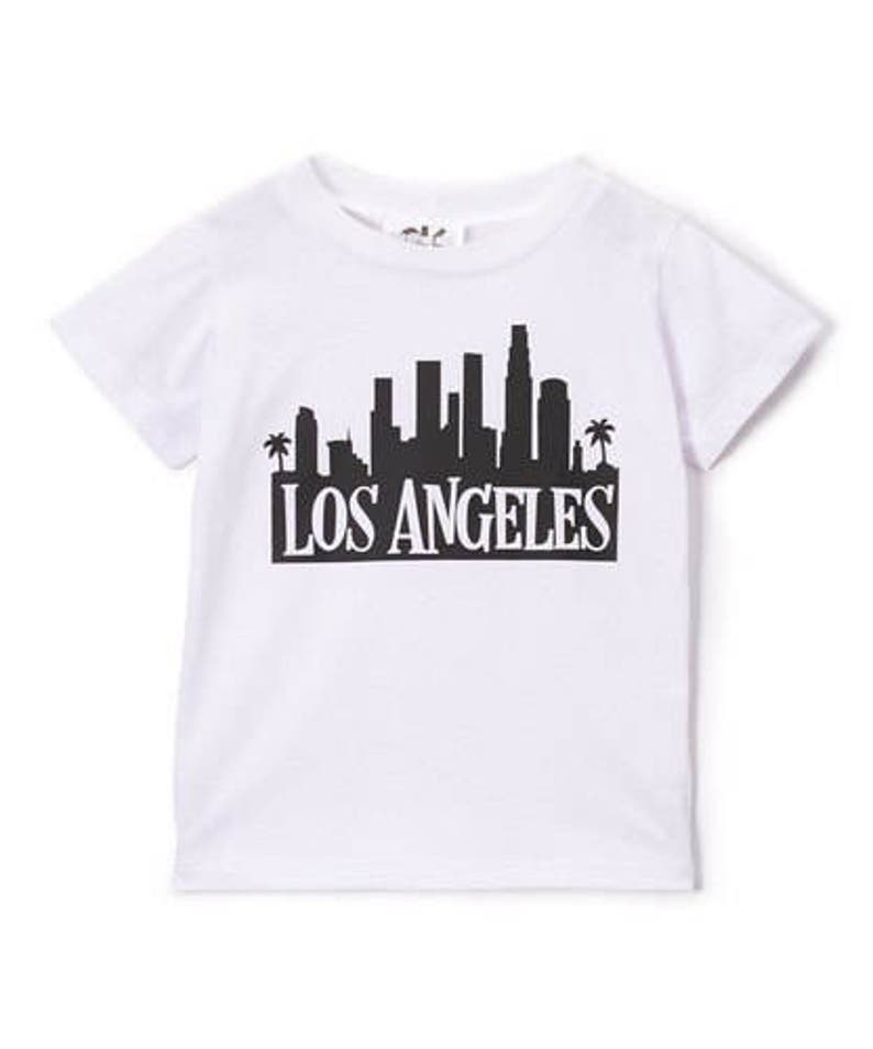Los Angeles white and black graphic Tee image 0