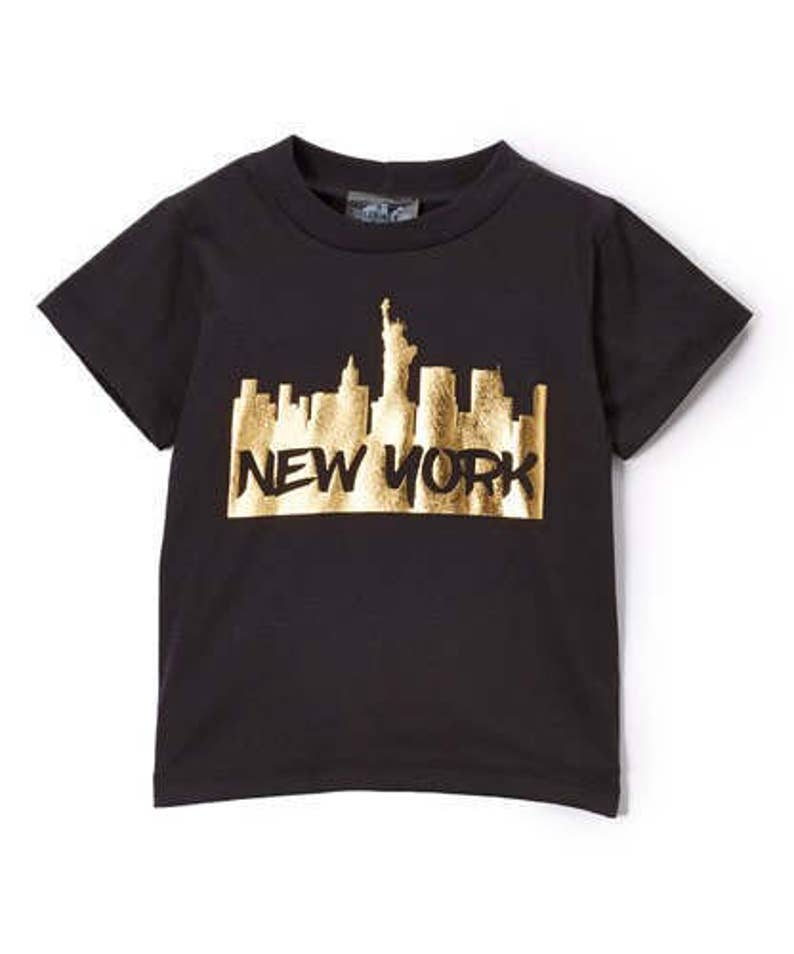 the latest 78a8d f65ed New York black and gold graphic Tee   Etsy