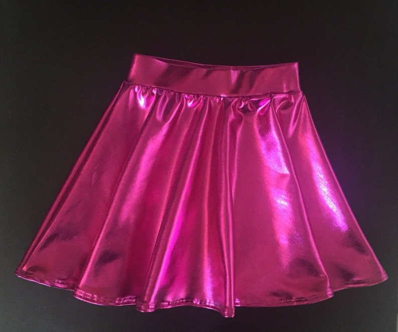 Dreaming Kids  Fuchsia Metallic Skirt image 0