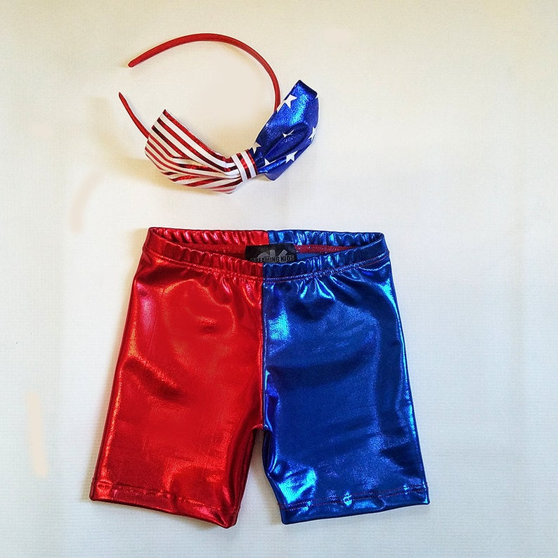 Harley Quinn inspired  KIDS Suicide squad Red Blue metallic image 0