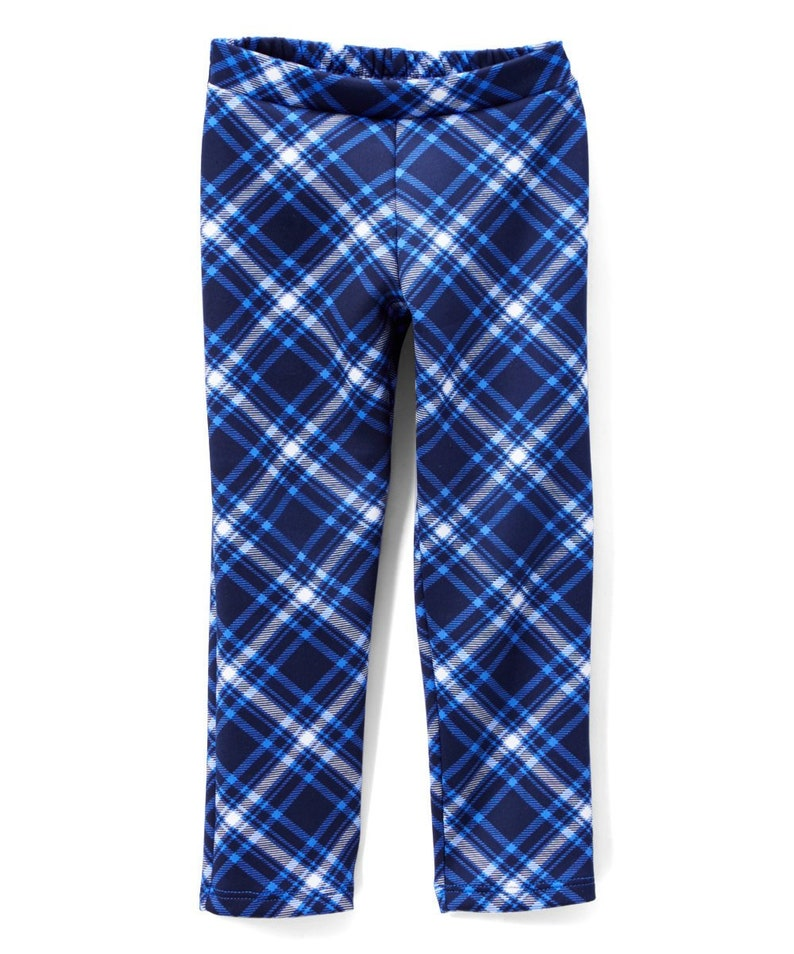 Navy Plaid Pants  Infant Toddler & unisex image 0