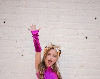 Dreaming Kids Pink Metallic gloves