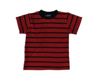 Calvin dark red & Black Stripe Tee rib costume halloween rings freddy the hobbes peanuts linus