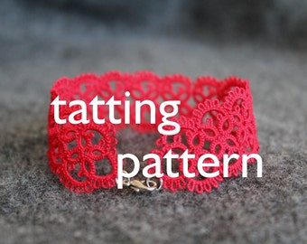 PDF Timeless bracelet/choker tatting pattern by littleblacklace - instant download