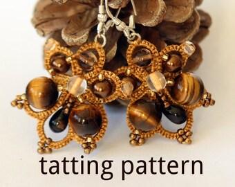 PDF Butterfly earrings - tatting pattern by littleblacklace - instant download