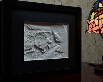 Custom Gift for New Parents | Lithophane framed with a long-lasting LED Light Panel