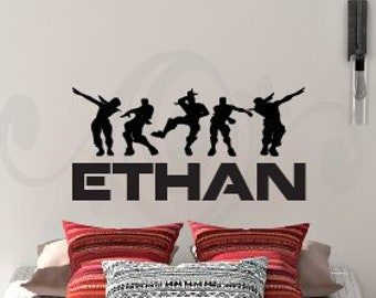 Kids Room room decor Paladin Game Vinyl Lettering Wall Art Vinyl Decal Nursery Child Bedroom FN205 Personalized Name wall Sticker