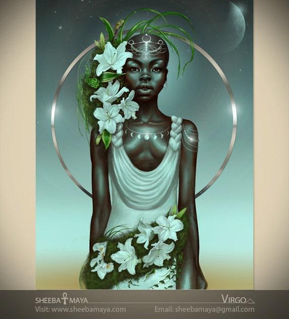 Zodiac Painting-Virgo Girl