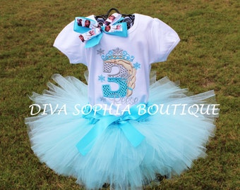 Frozen (Elsa) Tutu Set -  Birthday Set Personalized
