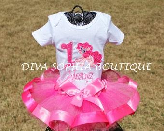 My Little Pony Tutu Set  - Pinky PieTutu Set -  Birthday Tutu  Set
