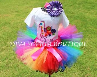 Personalized Birthday Candy Tutu Set   - Baby - Birthday Set