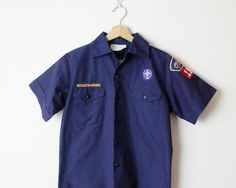 Boy Scouts Retro Baby Girl Short Sleeve Round Neck Cotton Tshit