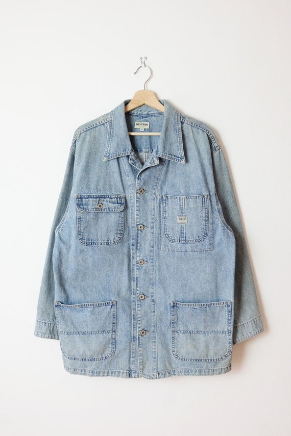 Damaged Vintage Guess Denim Jacket/ Barn Chore coa