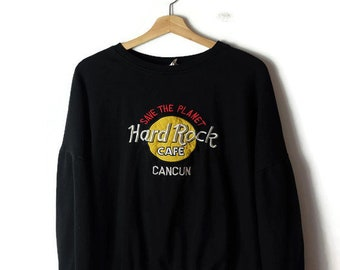 RESERVED Vintage Hard Rock Cafe Cancun Logo Sweatshirt/Black
