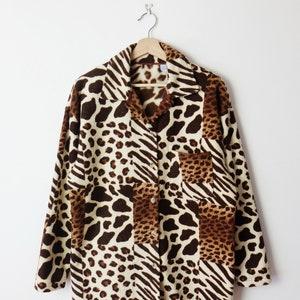 print silk blouse Vintage FIJI Leopard-ANIMAL