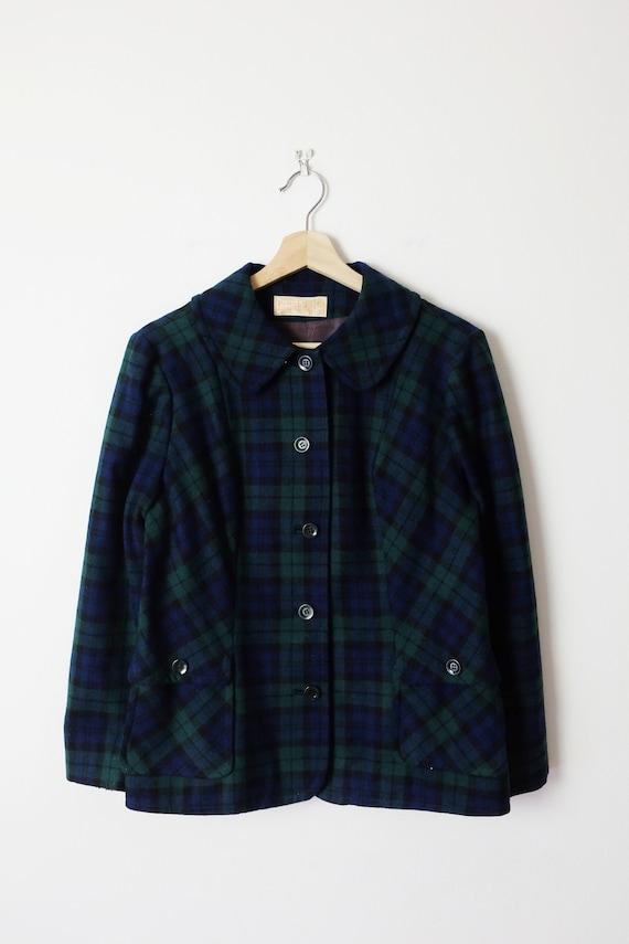 Vintage Pendleton Black Watch/Tartan Plaid Wool Ja