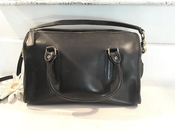 Coach satchel, coach bag, leather coach bag, navy